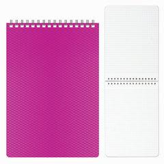 Блокнот А5, 80 л., гребень, пластиковая обложка, HATBER, «DIAMOND-розовый», 145×205 мм, 80Б5B1гр 02033