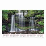 Календарь А1 на 2018 г., HATBER, 90×60 см, горизонтальный, «Водопад», Кл1 05807