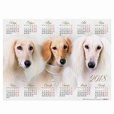 Календарь А2 на 2018 г., HATBER, 45×60 см, горизонтальный, «Год собаки», Кл2 16871