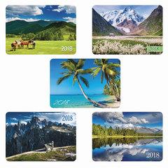 Календарь карманный на 2018 г., HATBER, 7×10 см, лакированный, «Пейзажи», Кк7