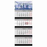 Календарь квартальный на 2018 г., HATBER, Бизнес, 4-х блочный, на 4-х гребнях, «Деловой мир», 4Кв4гр3 16868