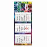 Календарь квартальный на 2018 г., HATBER, Люкс, 3-х блочный, на 3-х гребнях, «Жизнь в цвете», 3Кв3гр2 16842