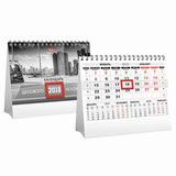 Календарь-домик на 2018 г., HATBER, на гребне, 160×105 мм, горизонтальный, «Деловой-2 цветной», 12КД6гр 16157