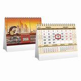 Календарь-домик 2018 г., HATBER, на гребне, 160×105 мм, горизонтальный, «Деловой-золото», 12КД6гр 16152