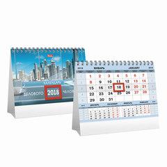 Календарь-домик на 2018 г., HATBER, на гребне, 160×105 мм, горизонтальный, «Деловой-серебро», 12КД6гр 16156