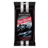 Салфетки влажные, 30 шт., для салона автомобиля, TOP GEAR