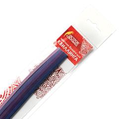 Бумага для квиллинга «Фиолетовый микс», 5 цветов, 125 полос, 3 мм х 300 мм, 130 г/<wbr/>м<sup>2</sup>, ОСТРОВ СОКРОВИЩ