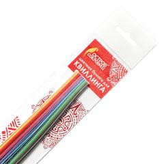 Бумага для квиллинга «Цветная глазурь», 24 цвета, 120 полос, 7 мм х 300 мм, 130 г/<wbr/>м<sup>2</sup>, ОСТРОВ СОКРОВИЩ