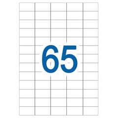 Этикетка самоклеящаяся УДАЛЯЕМАЯ, 65 этикеток 38×21,2 мм, белые, 65 г/<wbr/>м<sup>2</sup>, 50 л., STAFF