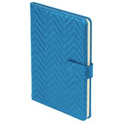Еженедельник датированный 2019 г., А5, BRAUBERG «Instinct», глянцевый, магнитная застежка, синий