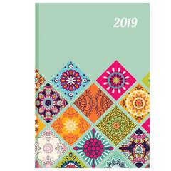 Ежедневник датированный 2019, А5, обложка 7БЦ, «Орнамент», 160 л, 145×215 мм, BRAUBERG