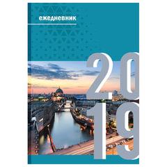 Ежедневник датированный 2019, А5, обложка 7БЦ, «Мегаполис», 160 л, 145×215 мм, BRAUBERG