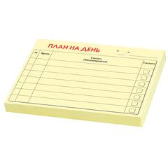 Блок самоклеящийся (стикер) «План на день», 102×75 мм, 50 листов, PRINTSTICK, европодвес