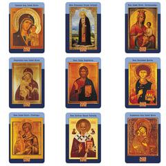 Календарь карманный на 2019 г., HATBER, 7×10 см, ламинированный, «Православные иконы», Кк7