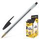 Ручка шариковая BIC «Cristal» (Франция), корпус прозрачный, черные детали, толщина письма 0,4 мм, черная