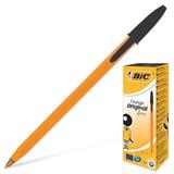 Ручка шариковая BIC «Orange» (Франция), корпус оранжевый, черные детали, толщина письма 0,36 мм, черная