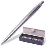 Ручка шариковая PARKER «Jotter Steel CT», корпус серебристый, нержавеющая сталь, хромированные детали, S0705560, синий