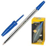 Ручка шариковая Corvina 51, корпус прозрачный, 1мм, синяя