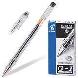 """Ручка гелевая PILOT BL-G1-5T """"Extra Fine G-1"""", корпус прозрачный, толщина письма 0,3 мм, черная"""