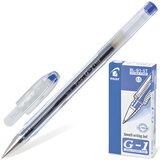 """Ручка гелевая PILOT BL-G1-5T """"Extra Fine G-1"""", корпус прозрачный, толщина письма 0,3 мм, синяя"""