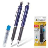 Набор BRAUBERG (БРАУБЕРГ) «Modern»: шариковая ручка, механический карандаш 0,5 мм, грифели 12 шт.