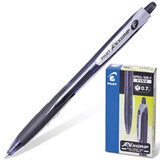 Ручка шариковая PILOT автоматическая, BPRG-10R-F «Rex Grip», корпус черный, резиновый упор, толщина письма 0,32 мм, черная