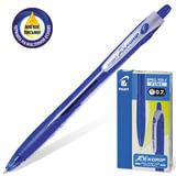 Ручка шариковая масляная PILOT автоматическая, корпус синий «REX GRIP» BPRG-10R-F, с резиновым упором, 0,32 мм, синяя