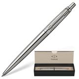 Ручка шариковая PARKER «Jotter Premium/<wbr/>Stainless Steel Chiselled», «Серебро», корпус нержавеющая сталь, хромированные детали