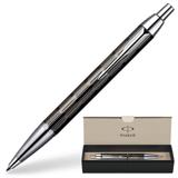 Ручка шариковая PARKER IM Premium «Точечная гравировка», корпус нержавеющая сталь, хромир. детали