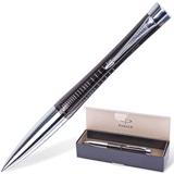 Ручка шариковая PARKER Urban Premium / Ebony Metal Chiselled «Черный жемчуг», корп.черн., хром. дет.