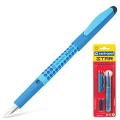 Ручка перьевая CENTROPEN «Star», корпус ассорти, иридиевое перо, 2 сменных картриджа, блистер