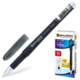 Ручка гелевая BRAUBERG (БРАУБЕРГ) «Impulse», корпус черный, игольчатый пишущий узел 0,5 мм, резиновый держатель, черная