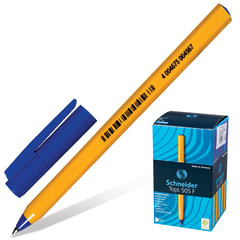 Ручка шариковая SCHNEIDER (Германия) «Tops 505 F», корпус желтый, узел 0,8 мм, линия 0,4 мм, синяя