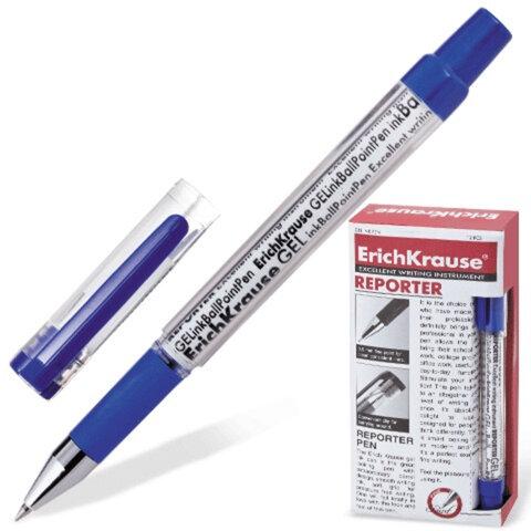 Ручка гелевая ERICH KRAUSE «REPORTER», с резиновым упором, 0,5 мм, синяя