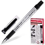 Ручка гелевая ERICH KRAUSE «REPORTER», с резиновым упором, 0,5 мм, черная