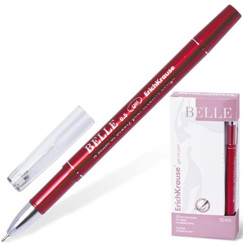 Ручка гелевая ERICH KRAUSE «BELLE gel», 0,5 мм, красная