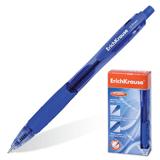 Ручка шариковая ERICH KRAUSE, автоматическая, «Fusion», корпус тонированный синий, 0,7 мм, синяя