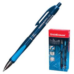 Ручка шариковая автоматическая ERICH KRAUSE «Megapolis Concept», корпус синий, узел 0,7 мм, линия 0,35 мм, синяя