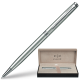 Ручка шариковая PARKER «Sonnet Stainless Steel Slim CT», корпус нержавеющая сталь, хромир. детали