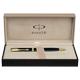 Ручка шариковая PARKER «Sonnet Matte Black Slim GT», корпус матовый черный, позолоченные детали