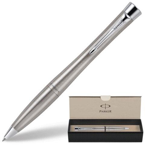 Ручка шариковая PARKER «Urban Metro Metallic CT», корпус серебристый, латунь, хромированные детали, S0767120, синяя