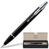 Ручка шариковая PARKER «IM Black CT», корпус черный, латунь, хромированные детали, S0856430, синяя