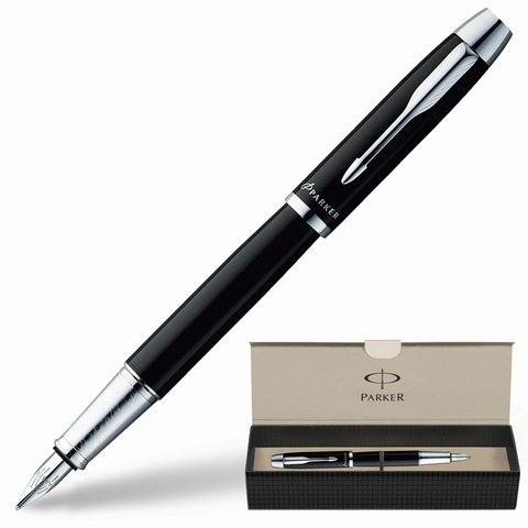 Ручка перьевая PARKER «IM Black CT», корпус черный, латунь, хромированные детали, S0856180, черная