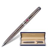 Ручка шариковая GALANT «Kawasaki», подарочная, корпус серебристый, хромированные детали, синяя