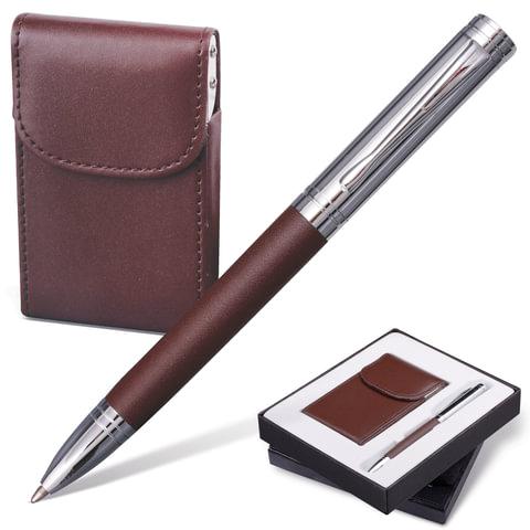 Набор GALANT «Prestige Collection»: ручка, визитница, темно-коричневый, подарочная коробка