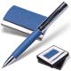 Набор GALANT «Prestige Collection»: ручка, визитница, синий, «фактурная кожа», подарочная коробка