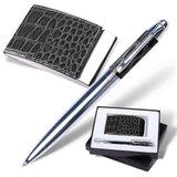 Набор GALANT «Prestige Collection»: ручка, визитница, черный, «кожа крокодила», подарочная коробка