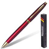 Ручка шариковая BRAUBERG «De luxe Red» бизнес-класса, корпус бордовый, золотистые детали, синяя