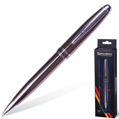 Ручка шариковая BRAUBERG «Oceanic Grey» бизнес-класса, корпус серый, серые детали, синяя