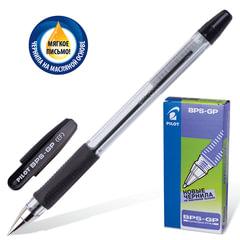 Ручка шариковая масляная PILOT «BPS-GP», корпус прозрачный, узел 0,5 мм, линия 0,25 мм, черная
